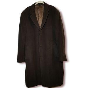 Ralph Lauren Vintage Wool & Cashmere Men's Winter Dress Coat Size 46R